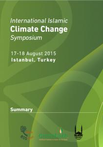 International Islamic Climate Change Symposium Summary