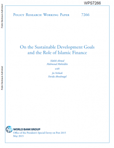 On the Sustainable Development Goals and the Role of Islamic Finance